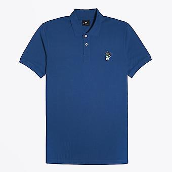 PS Paul Smith  - Cotton 'Angel Monkey' Polo Shirt - Cobalt Blue