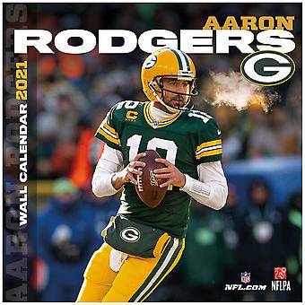 Mur NFL calendrier 2021 Green Bay Packers Aaron Rodgers