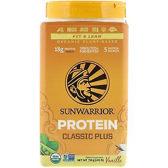 Sunwarrior, Classic Plus Protein, Organic Plant Based, Vanilla, 1.65 lb (750 g) Sunwarrior, Classic Plus Protein, Organic Plant Based, Vanilla, 1.65 lb (750 g) Sunwarrior, Classic Plus Protein, Organic Plant Based, Vanilla, 1.65 lb (750 g) Sunwar