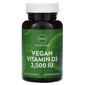 MRM, Nutrition, Vegan Vitamin D3, 2,500 IU, 60 Vegan Capsules