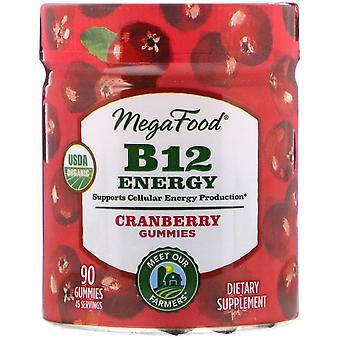 MegaFood, B12 Energie, Cranberry, 90 Gummies