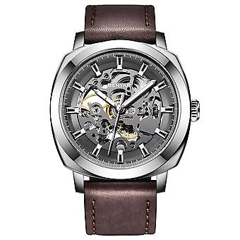 Mænd's casual business hule mekanisk ur