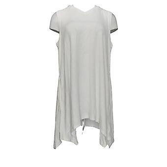 AnyBody Mujeres's Reg Sin Mangas Bebé Terry Tunic Top Blanco A354753