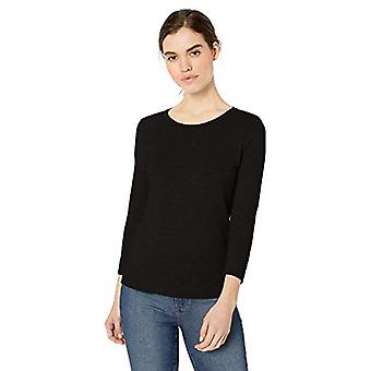 Brand - Daily Ritual Women's Lightweight Lived-In Cotton 3/4-Sleeve T-...