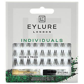 Eylure Pro-Lash Individual False Lashes - Dúos & Tríos - Adhesivo Lash incluido
