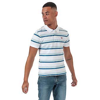 Men's Levis Original Batwing Polo Shirt in Blue