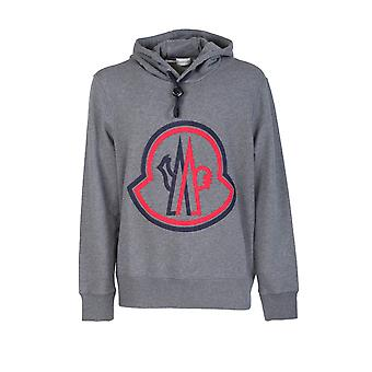 Moncler 8g7461080985940 Men's Grey Cotton Sweatshirt