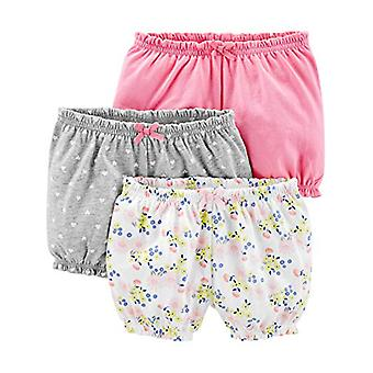 Simple Joys by Carter's Girls' 3-Pack Bloomer Short, Pink/Grey/Floral, 18 Mon...