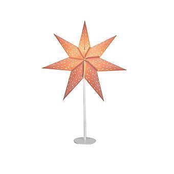 1 Light Christmas Star Table Lamp White, E14