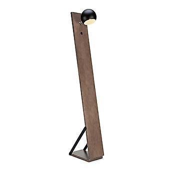 1 Light Indoor Floor Lamp Walnut, E14