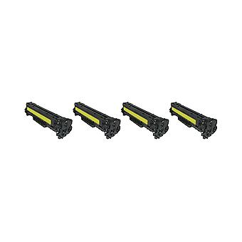 RudyTwos 4x Replacement for HP 131A Toner Unit Yellow Compatible with LaserJet Pro 200 Colour M251n, M251nw, MFP M276n, M276nw, Canon i-SENSYS LBP-7100Cn, LBP-7110Cw, MF-623Cn, MF-628Cw, MF-8230Cn, MF