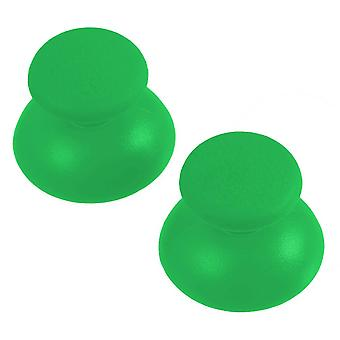 Replacement analog rubber convex thumbsticks for sony ps3 controllers - 2 pack green