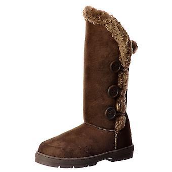 Ella Onlineshoe Triple 3 Button Fully Fur Lined Flat Ella Winter Boot