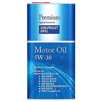 5L Vauxhal 5w30 Fully Synthetic Long Life Engine Oil Low Saps C3 Dexos 2