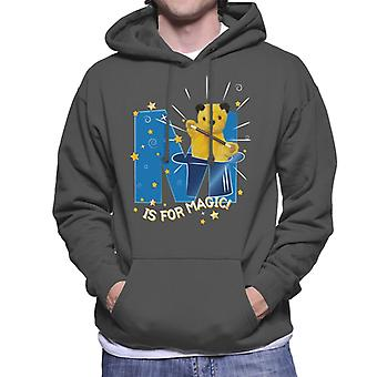 Sooty Top Hat M is voor Magic Men's Hooded Sweatshirt