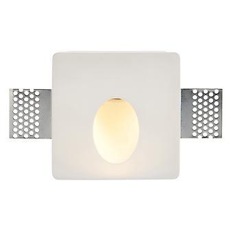 Saxby Zeke - Mur encastré Light Trimless Square 1.5W Plâtre blanc