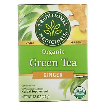 Traditional Medicinals Teas Organic Green Tea with Ginger, 16 Bags