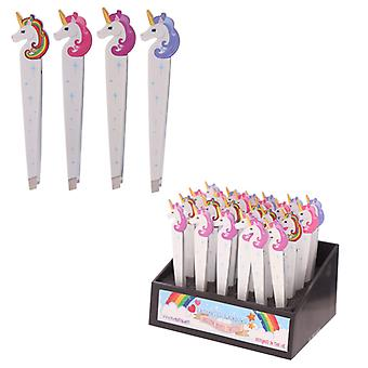 Fun Unicorn Rainbow Design Metal Tweezers