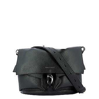 Orciani B02090micronnero Women's Black Leather Shoulder Bag