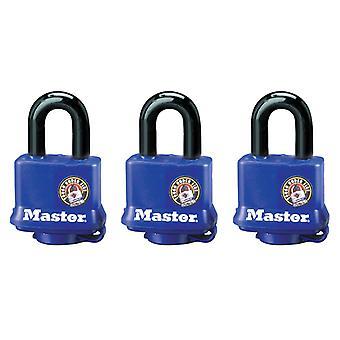 Master Lock Weather Tough 40mm Hangslots - Keyed Alike x 3 MLK312TRI