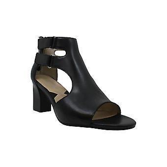 Adrienne Vittadini mujer Rea cuero dedo abierto tobillo botas de moda