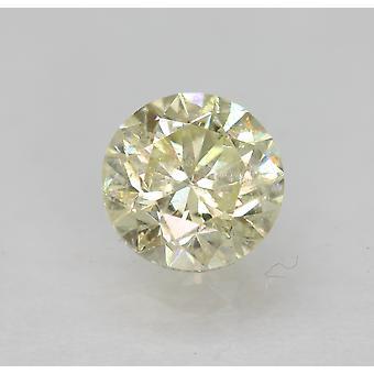 Cert 0,75 Karat hellgelb SI2 Runde brillant verbessert natürlichen Diamant 5,58 mm