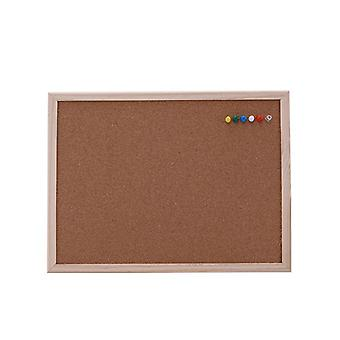 Cork Board, Drawing Pine Wood Frame, Home Office Decor