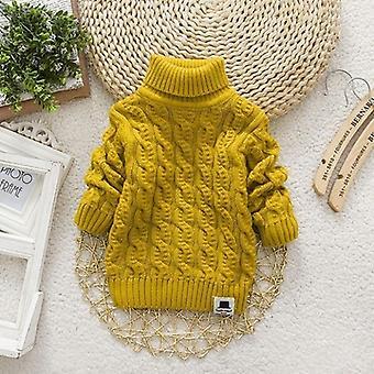 Deti Rolák zimné jednofarebné teplé svetre pre bábätka