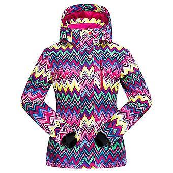 Veste de ski rembourrée chaude imperméable à l'eau imperméable au vent veste de ski et combinaison de ski pantalon