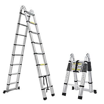 2.5m+2.5m Alluminum Telescopic Ladder With Joint