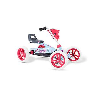 BERG pink and blue buzzy bloom pedal go kart