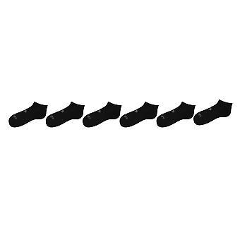 Asics Womens Invisible Socks 6 Pack Trainer Feuchtigkeit Wicking weichen Stoff Komfort