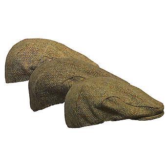 Walker and Hawkes - Uni -Sex Harris Tweed Herringbone Flat Cap