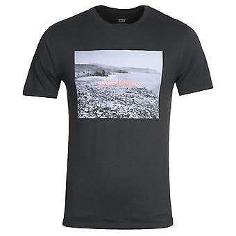 レヴィ&アポス s グラフィック プリント ブラック クルー ネック T シャツ