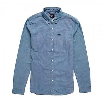 Superdry Classic University Oxford L/S Camisa Indigo Chambray Azul 4AH