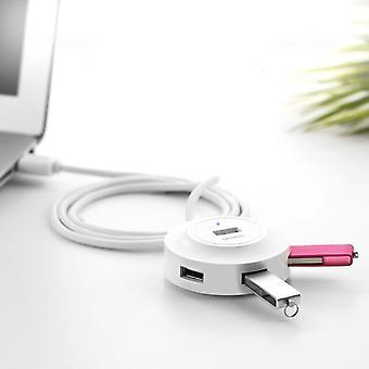 UGREEN 4 Portar USB 2.0 HUB Splitter för Mac, Windows, Linux Systems PC / Tabletter, Kabel Längd: 50cm(Vit)