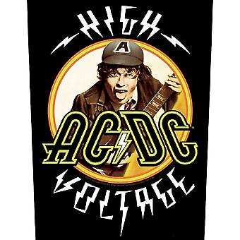 AC/DC Back Patch Angus High Voltage Band Logo Official Black Woven (36cmx29cm)