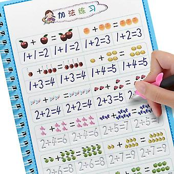 Kid Educational Learning Arithmetic Math Writing 3d Exercise Reusable Copybook