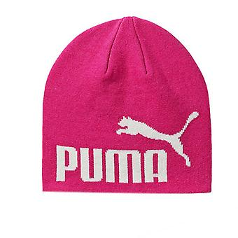 Puma Kids Pink White Logo Acrylic Cotton Beanie Hat Winter 052925 23 A185E