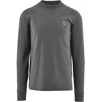 MA.STRUM Grey Long Sleeve Icon T-Shirt