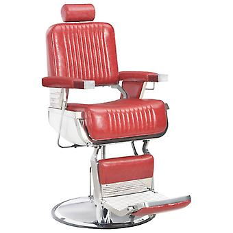 Hairdresser's chair red 68×69×116 cm artificial leather