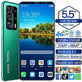 M7 PRO Olåst Smartphone Android 6.1 Mobiltelefon 10 Core 12GB+256GB 5,5 tums pekskärm