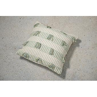 Striped Feijoa Green Pillow