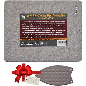 Wool Pressing Mat with Silicone Iron Rest Pad, 100% New Zealand Wool Ironing Mat