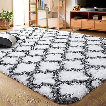 LOCHAS Luxury Velvet Shag Area Rug Modern Indoor Plush Fluffy Rugs, Extra Soft and Comfy Carpet