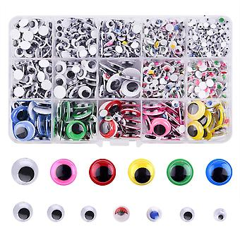 Fepito 1600pcs wiggle googly eyes self adhesive for dolls diy toys craft scrapbooking decorations as