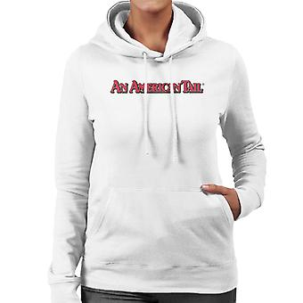 Ein amerikanischer Schwanz klassische rote Text Logo Frauen's Kapuzen Sweatshirt