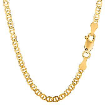 14 k Yellow Gold Mariner linkki Chain kaulakoru, 4.5 mm