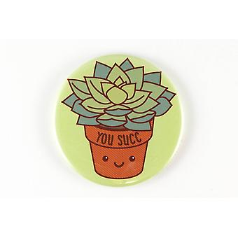 Rude Succulent Magnet, Pinback Button, Or Pocket Mirror