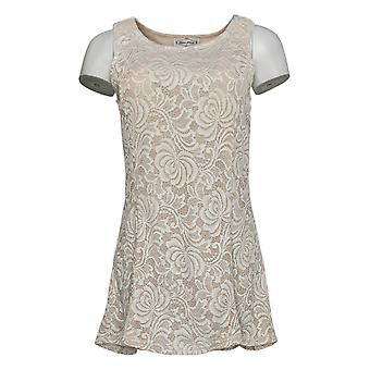Kathleen Kirkwood Women's Top Stretch Lace Swing Nude Lining Ivory A351221